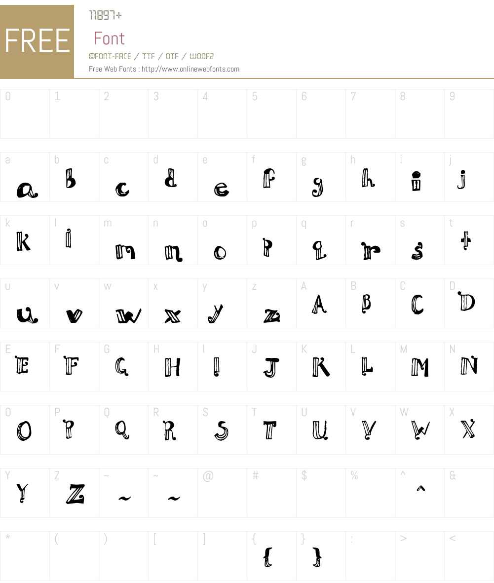 Doux Papya Font Screenshots