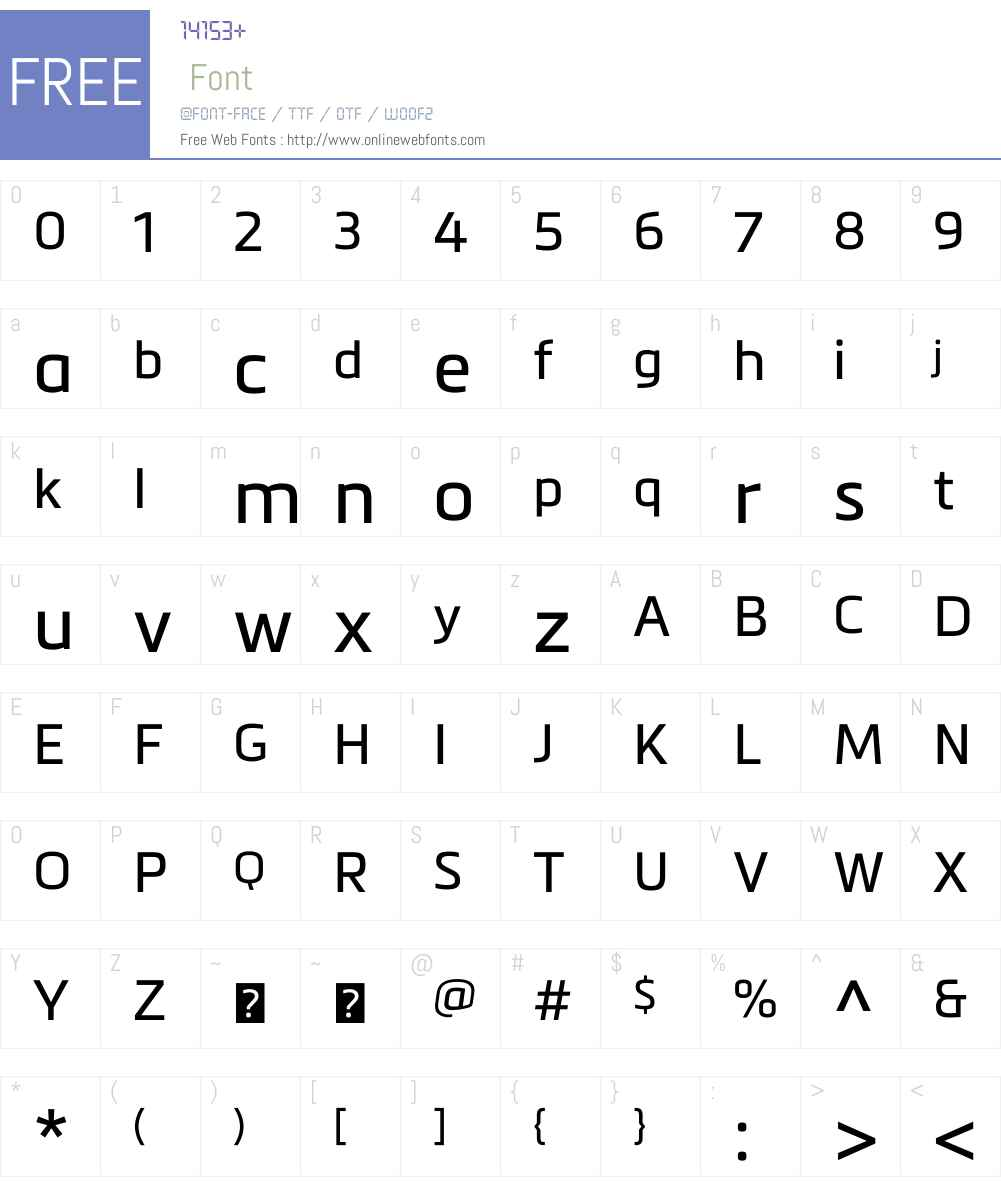 MetronicW01-Regular Font Screenshots