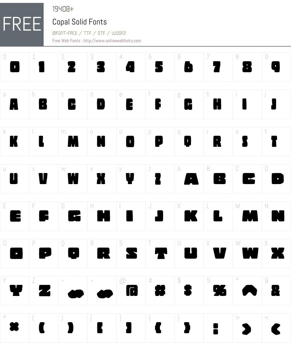 Copal Font Screenshots