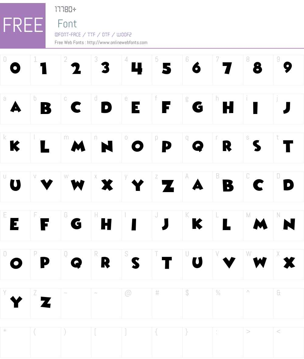 Wicked Mouse Font Screenshots