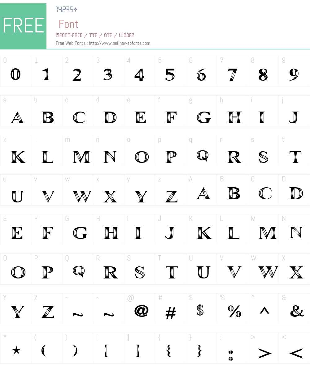 Maranallo Font Screenshots