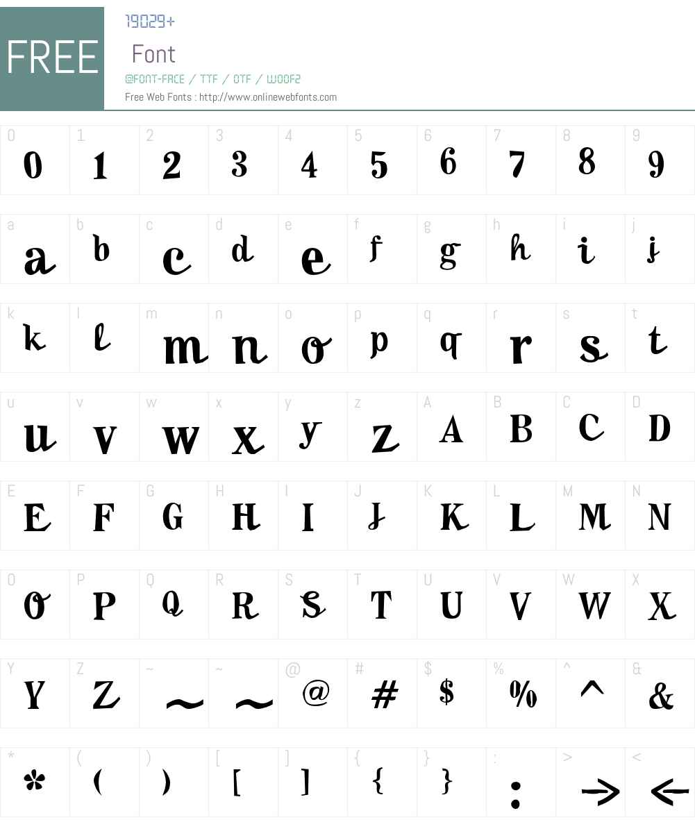 F2F MadZine LT Std Font Screenshots
