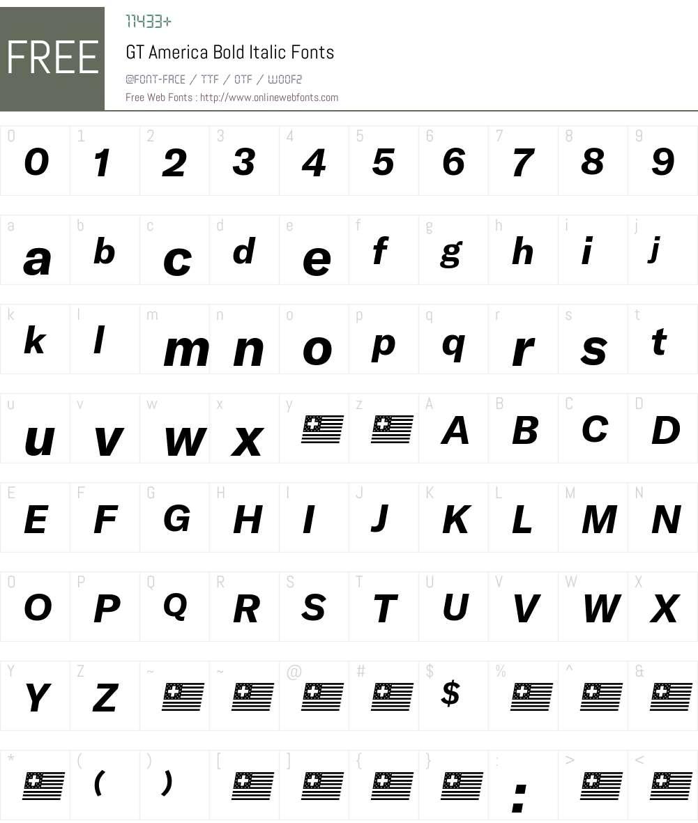 GT America Bold Font Screenshots