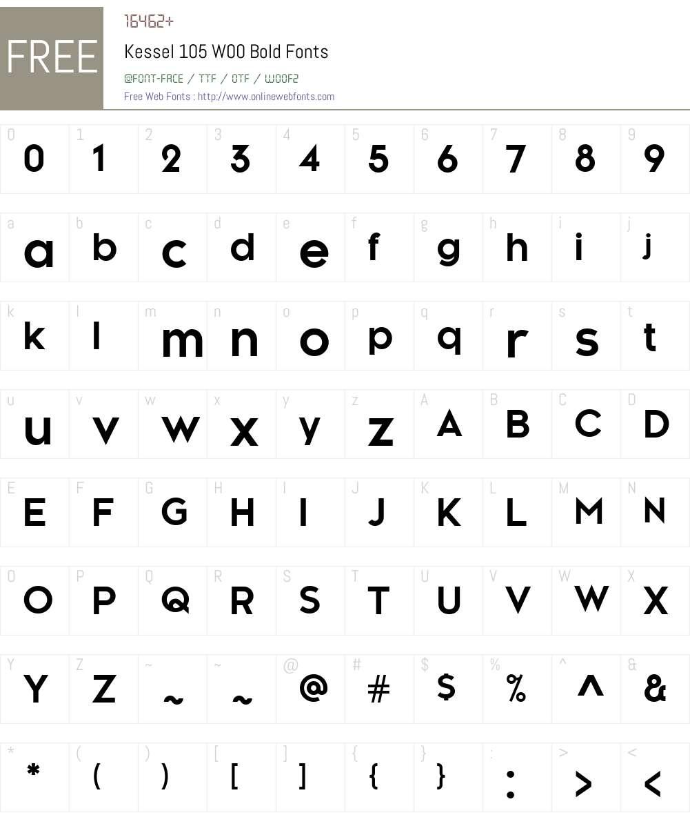 Kessel105W00-Bold Font Screenshots