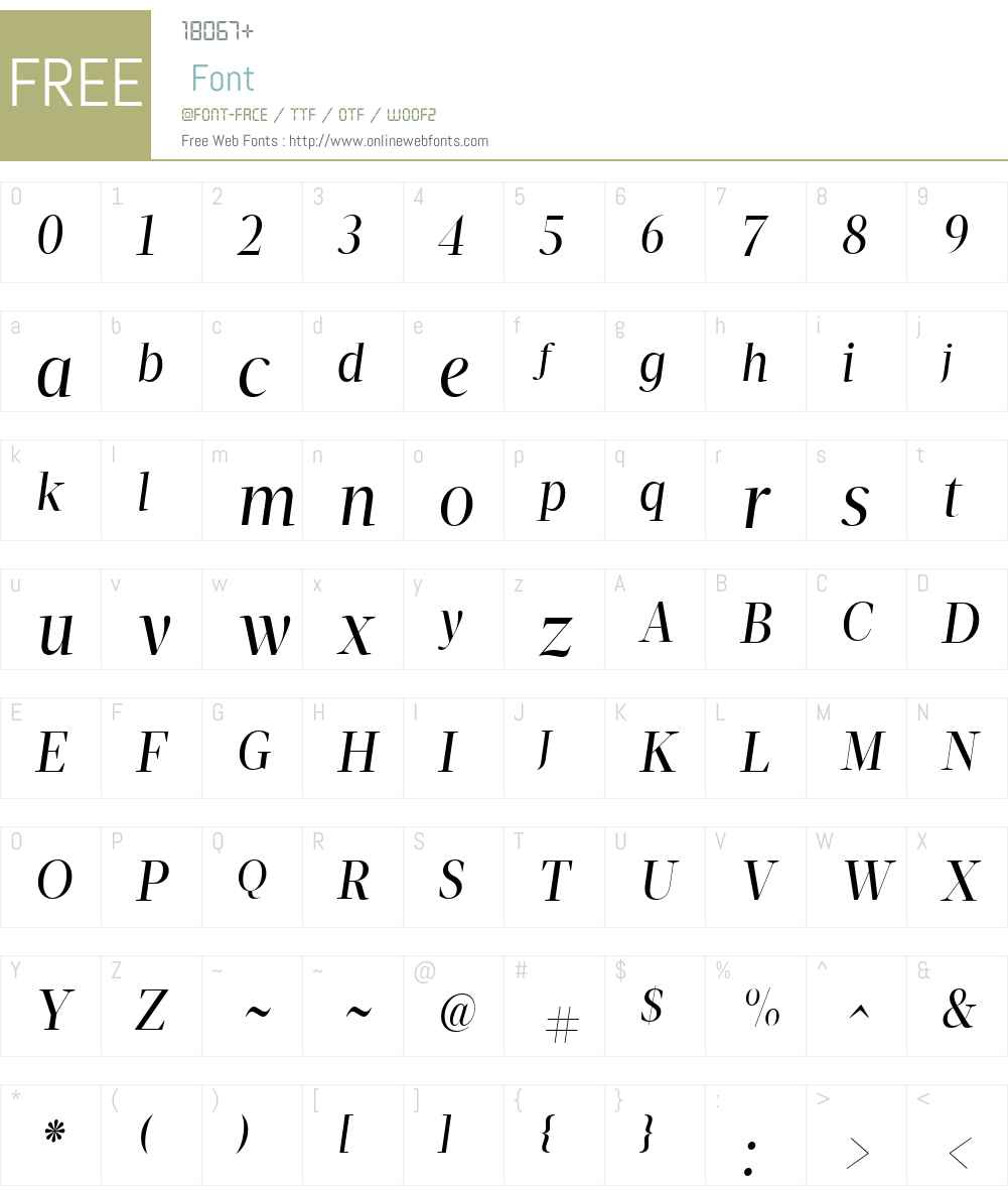 VelinoDisplayW01-BookItalic Font Screenshots