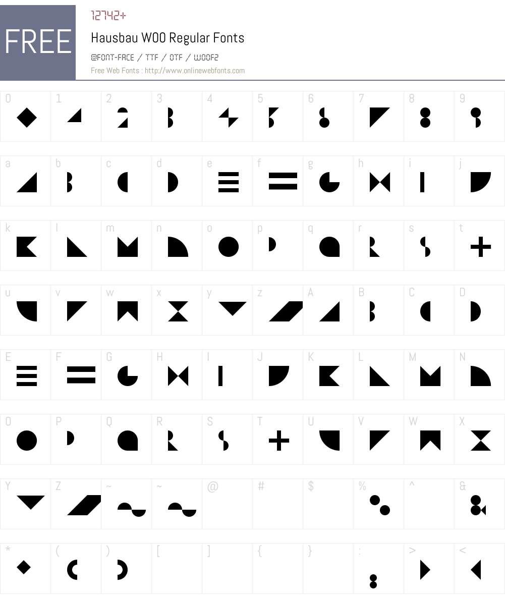 HausbauW00-Regular Font Screenshots