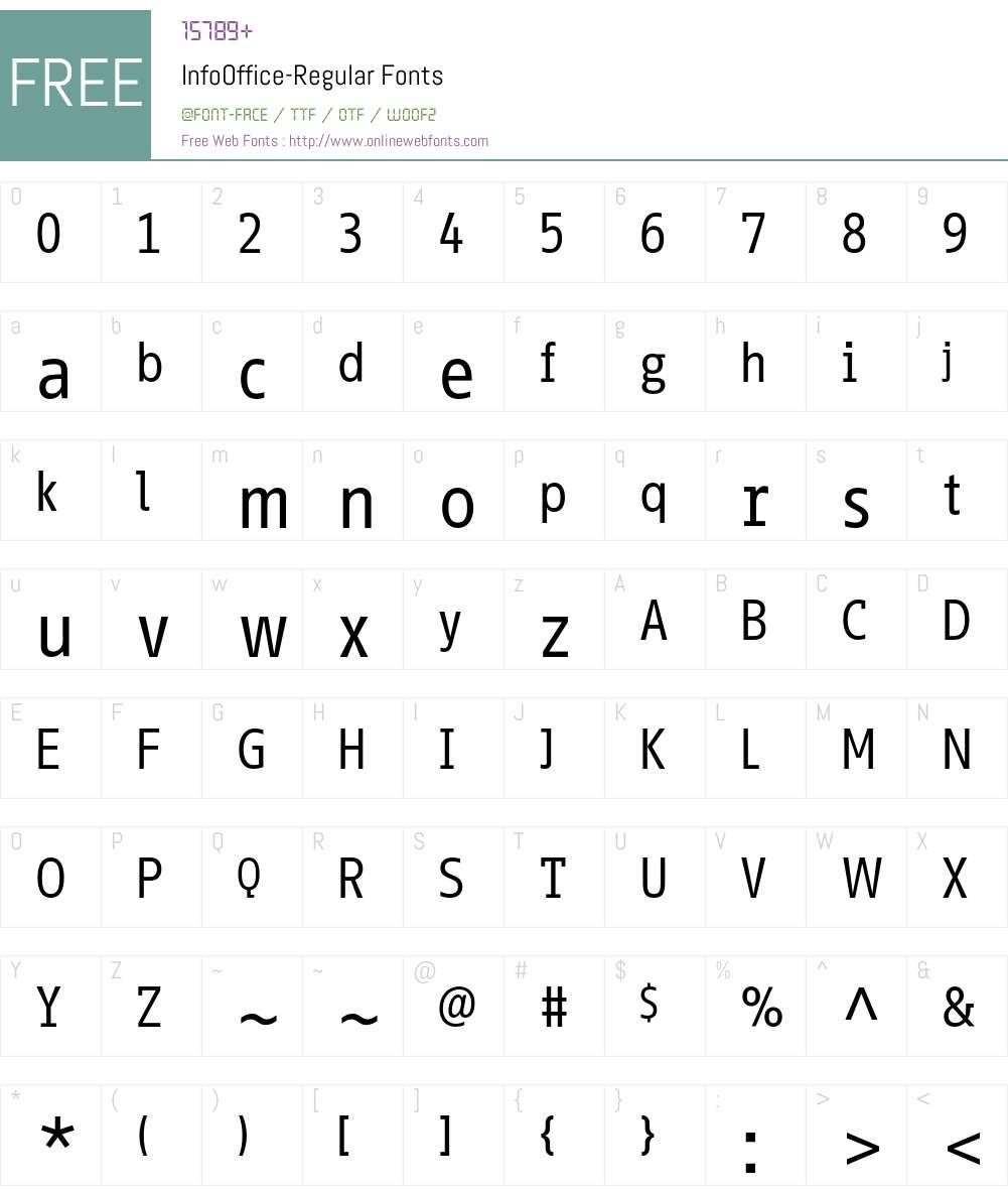 InfoOffice Font Screenshots