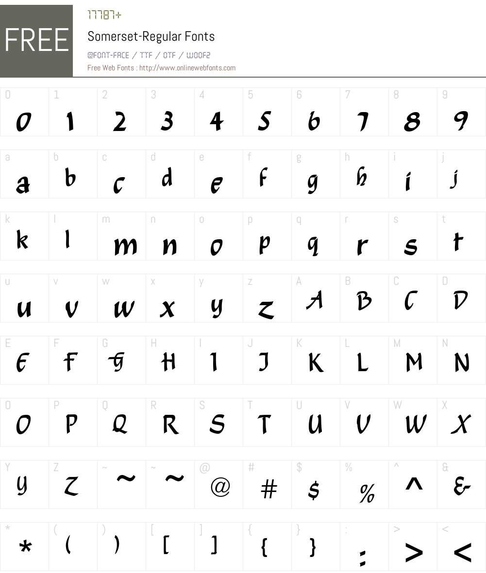 Somerset Font Screenshots
