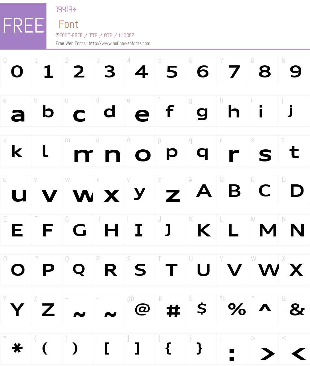Audi Type Extended Font Screenshots