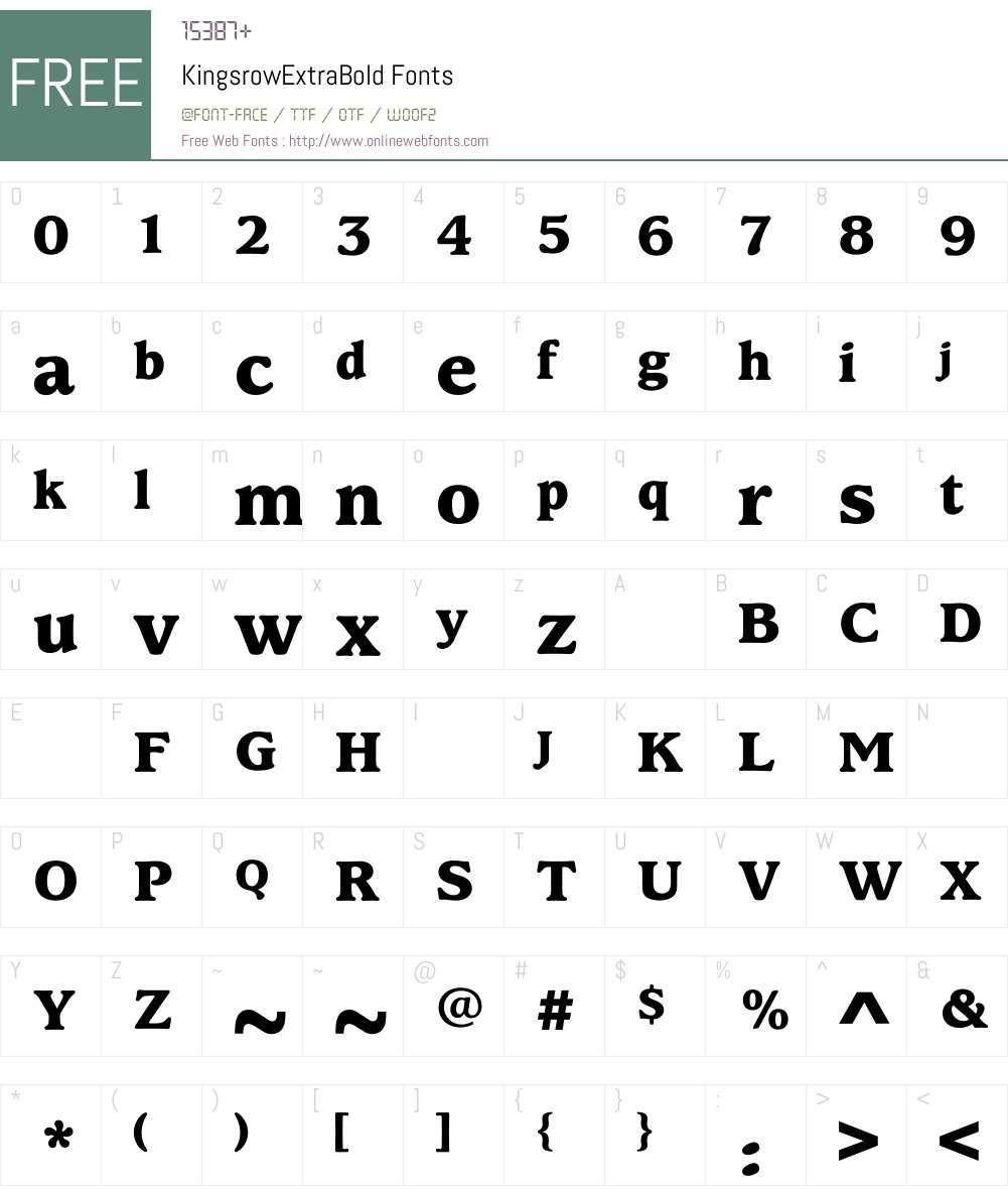 KingsrowExtraBold Font Screenshots