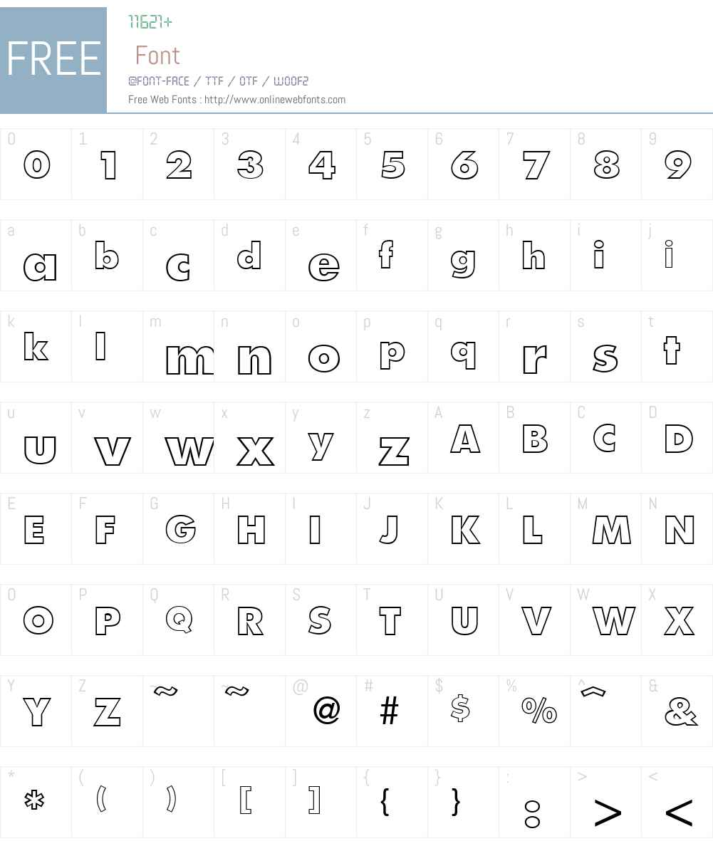 FunctionTwoOutlineExtrabold Font Screenshots