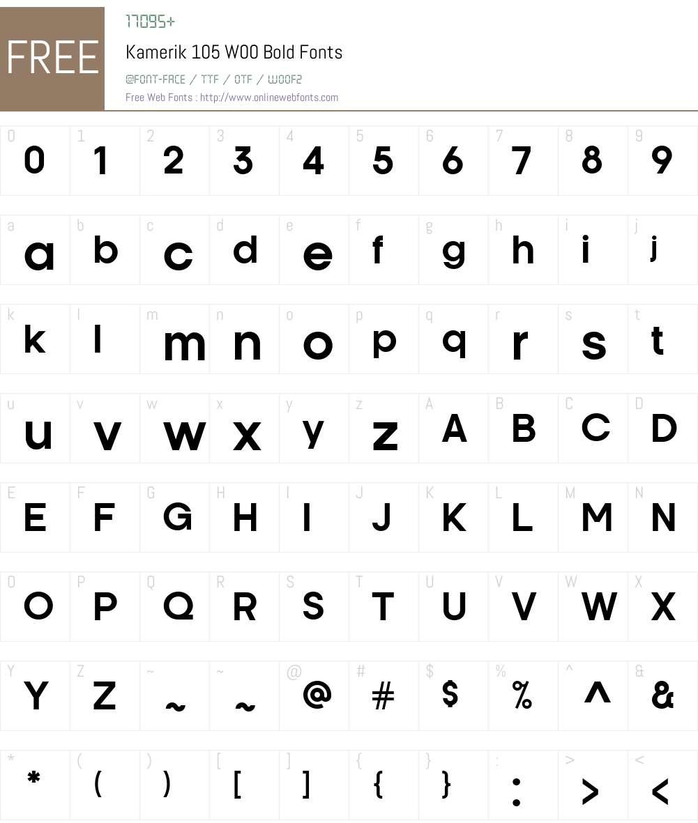 Kamerik105W00-Bold Font Screenshots