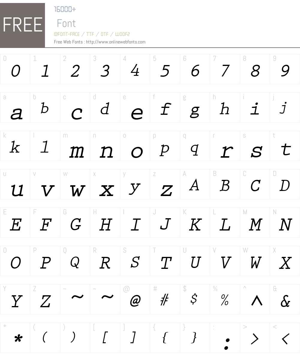 PrestigeEliM Font Screenshots