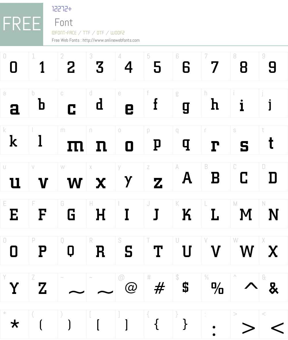 SquareSlab711 Lt BT Font Screenshots