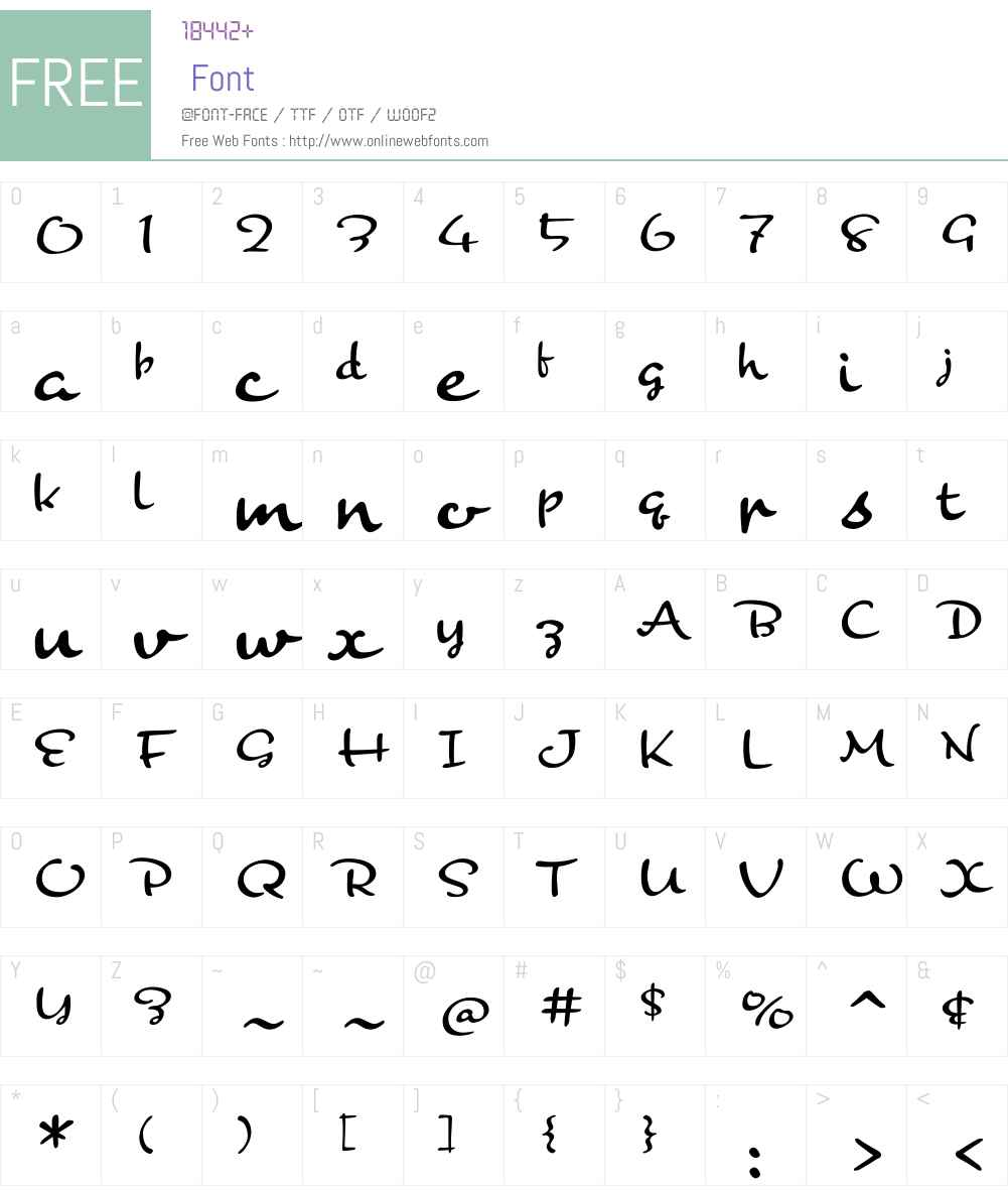BananaW01-Regular Font Screenshots