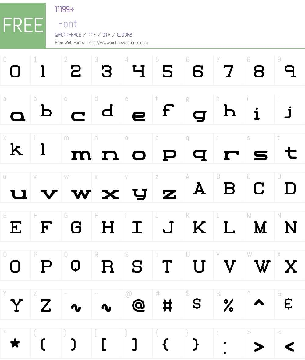 Xipital BRK Font Screenshots