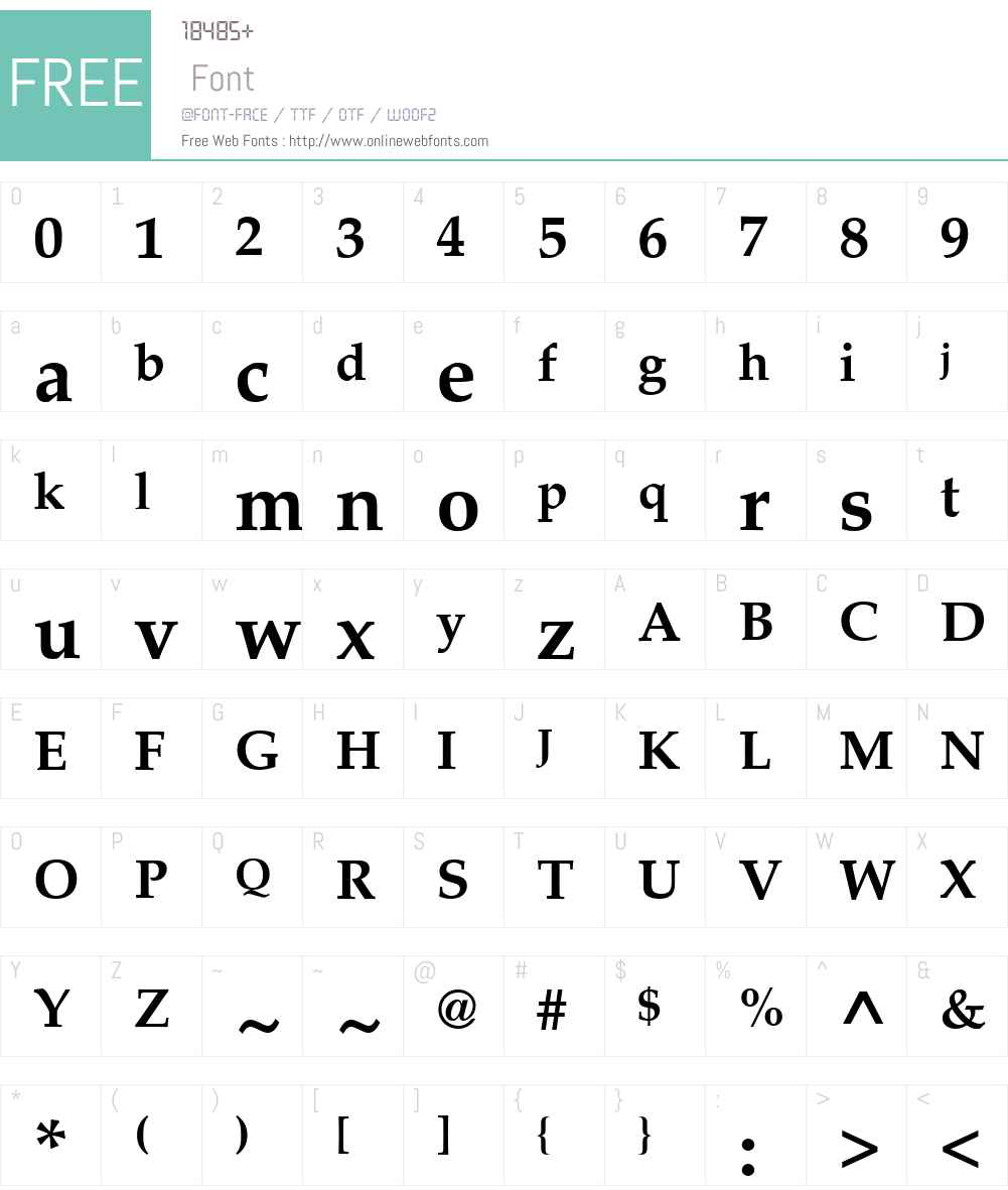 PalatinoLTW01-Bold Font Screenshots