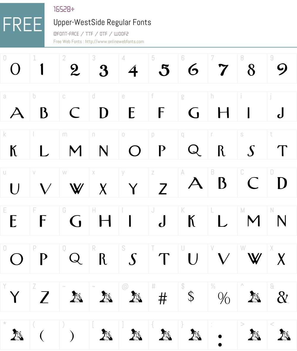 Upper-WestSide Font Screenshots