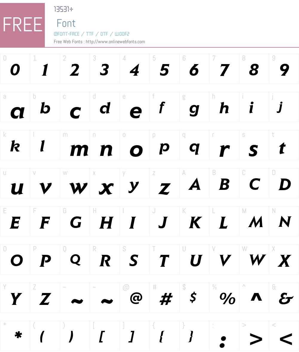 Elan ITC Std Font Screenshots