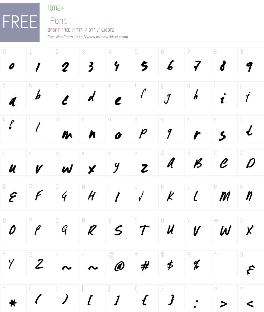FormosaW00-Regular Font Screenshots