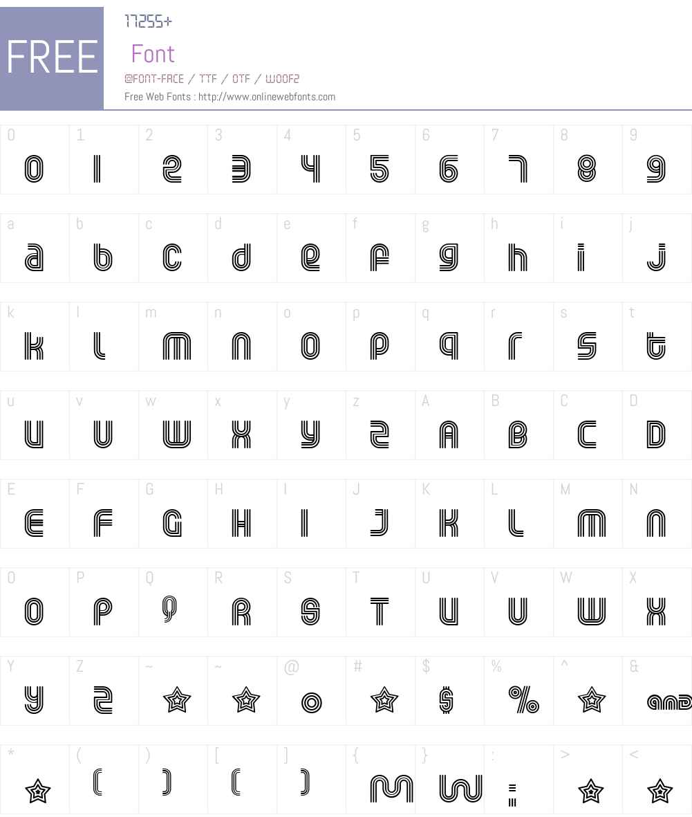 Rolloglide Font Screenshots