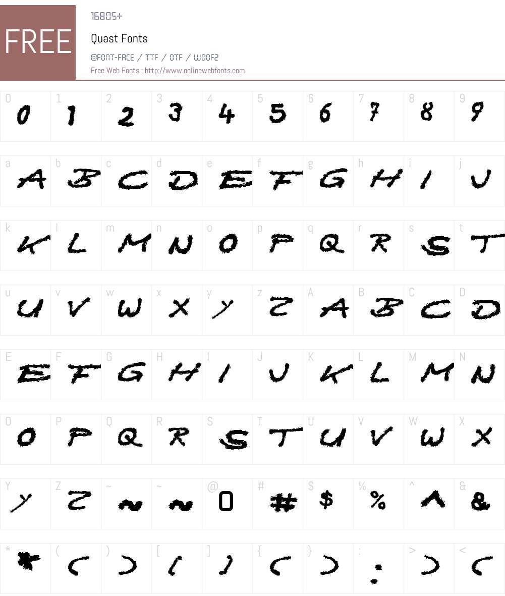 Quast Font Screenshots