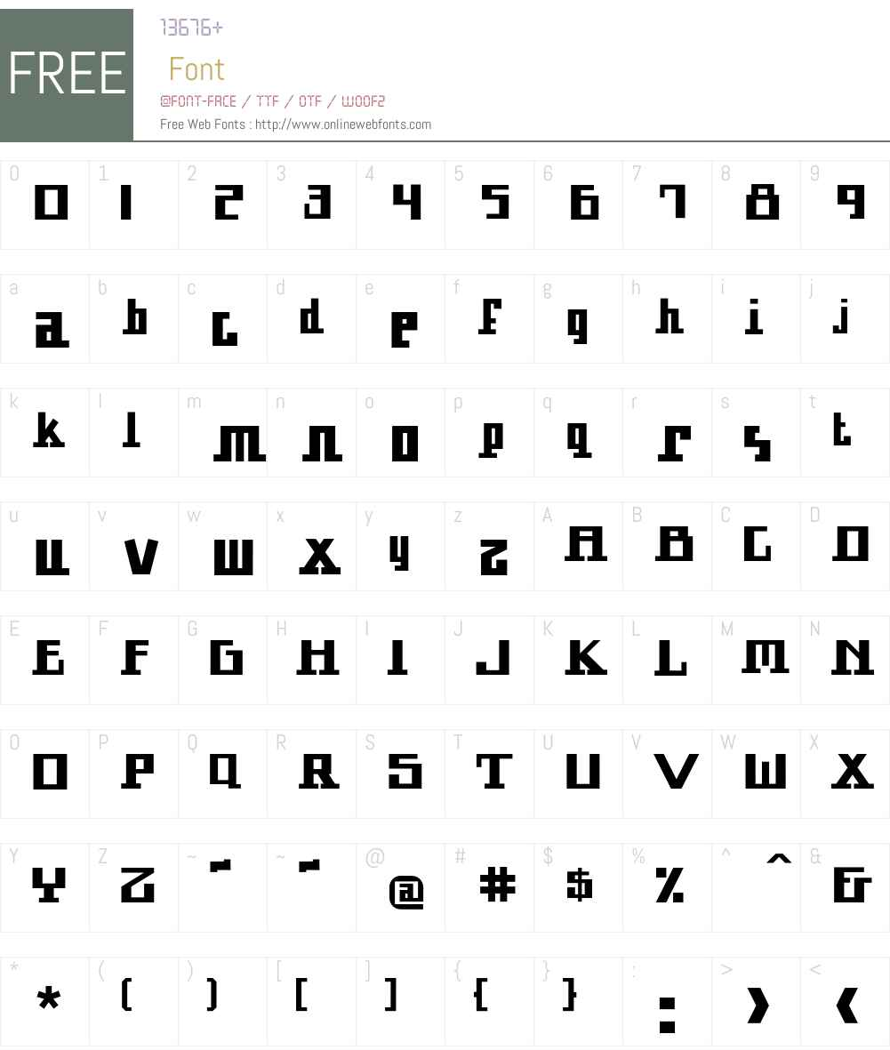 Arcturus Font Screenshots