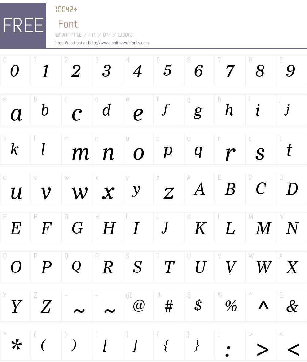 Ysobel eText Font Screenshots
