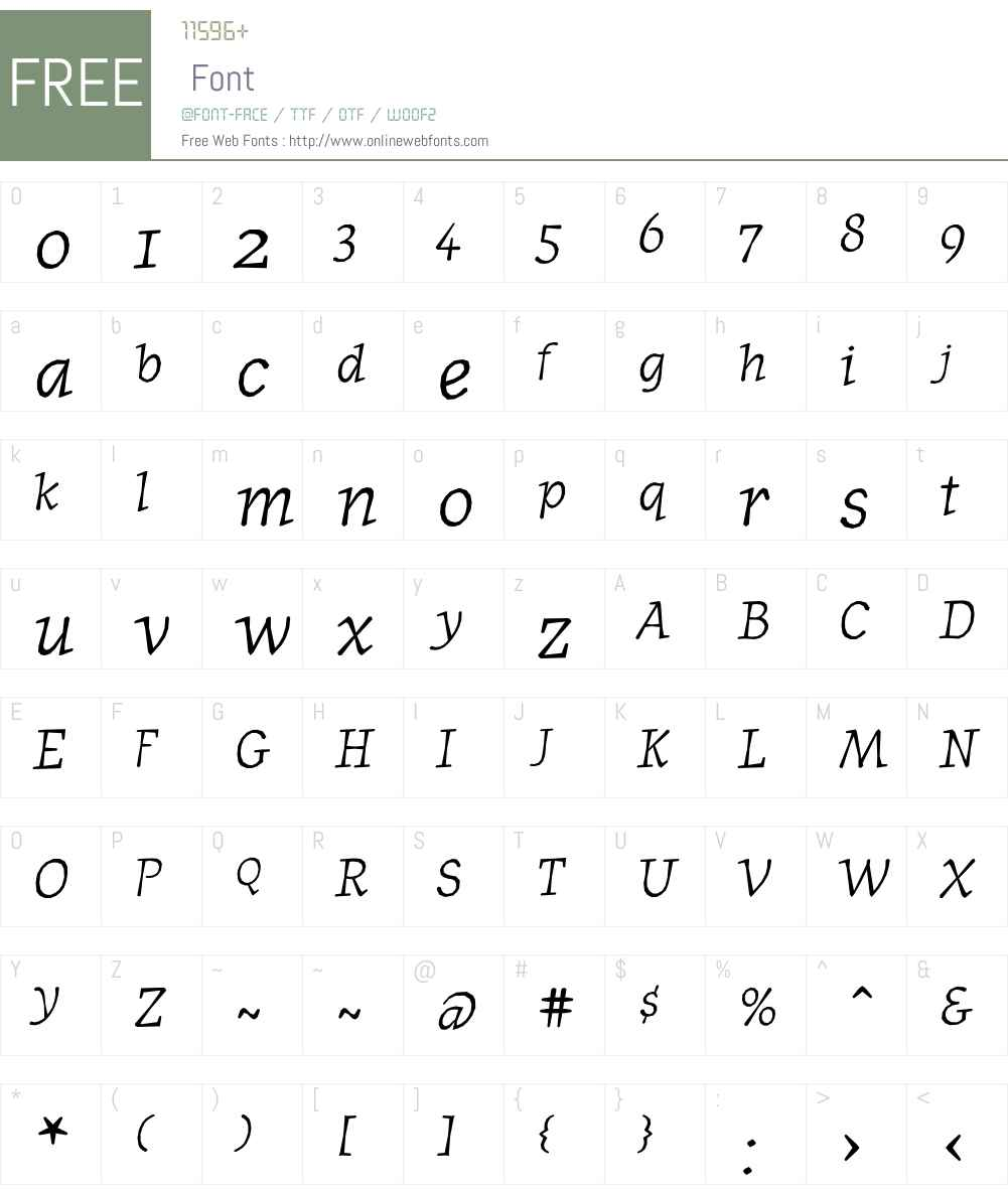 JournalItalicOldstyle Font Screenshots