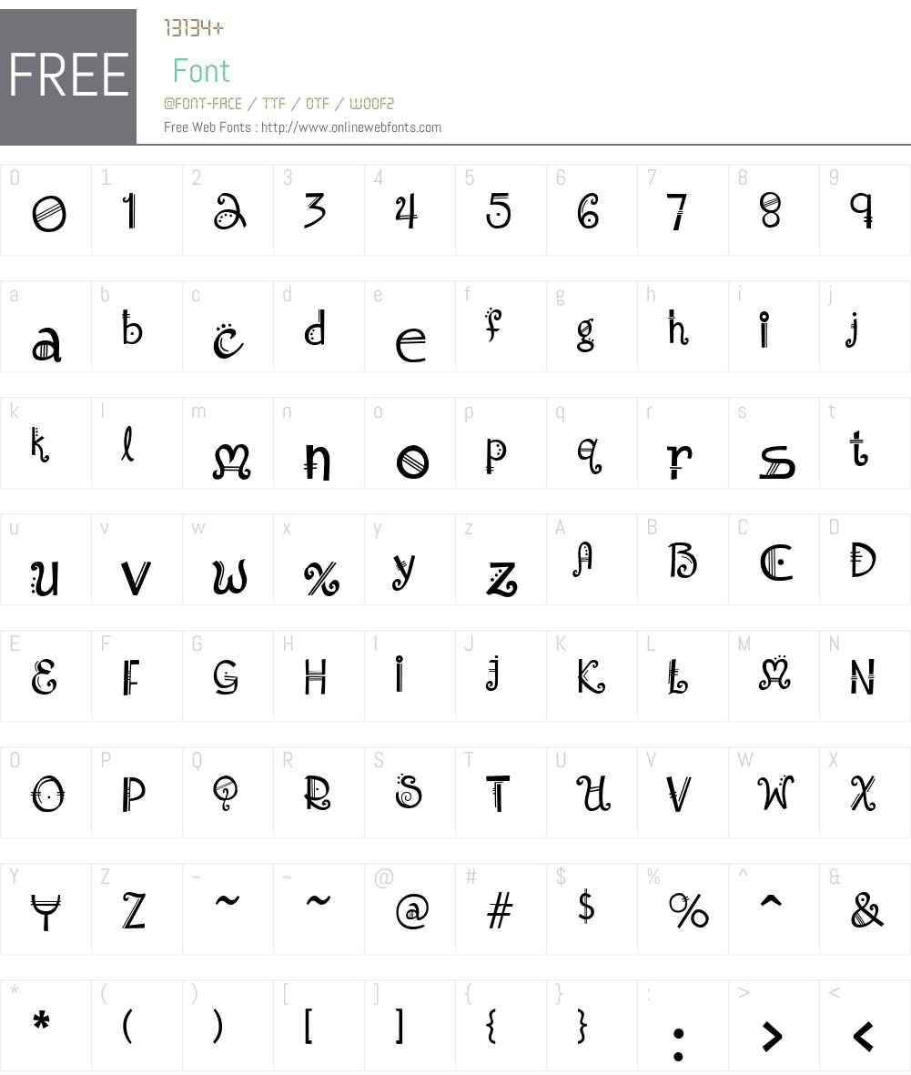 Amadeus Font Screenshots