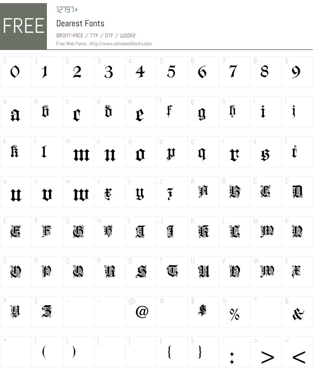 Dearest Font Screenshots
