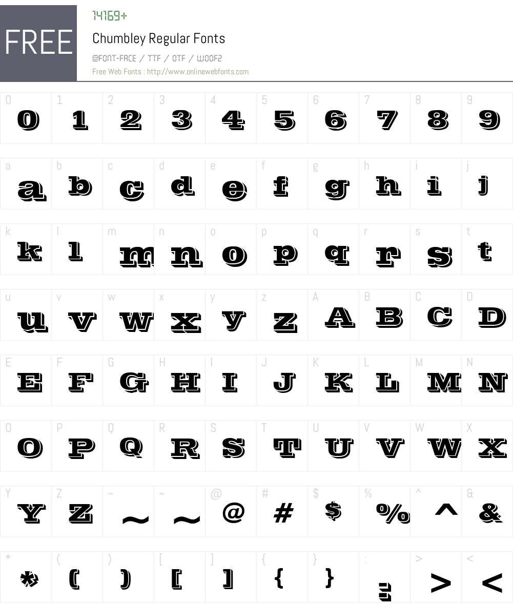 Chumbley Font Screenshots