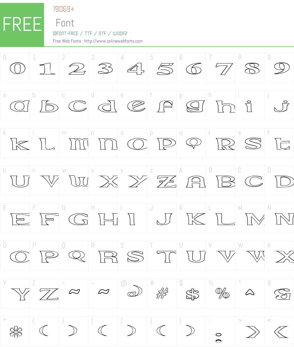 Extrano - Borde Font Screenshots