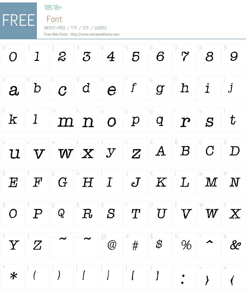 TypewriterAntique Font Screenshots