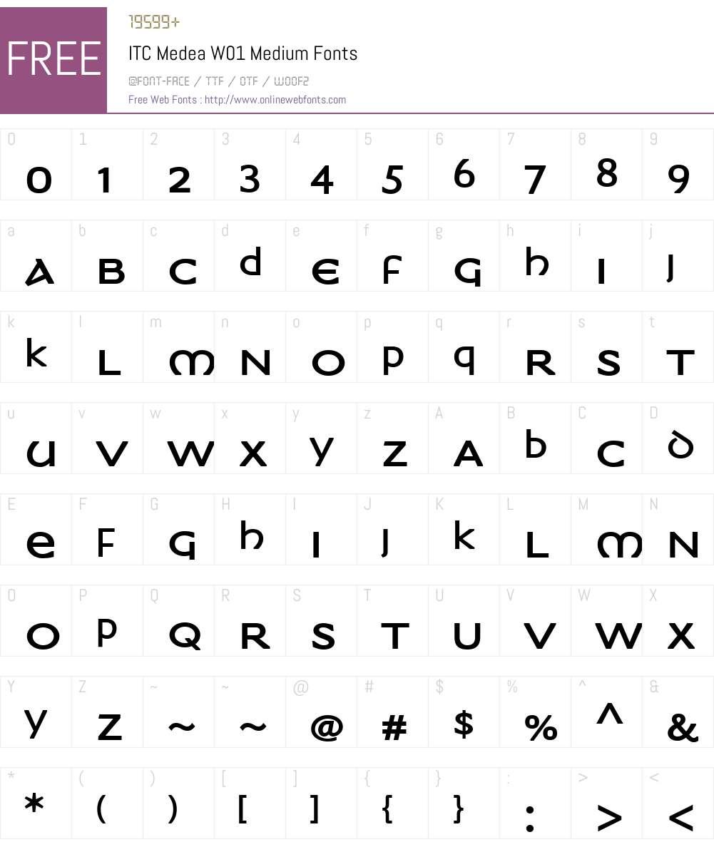 ITCMedeaW01-Medium Font Screenshots