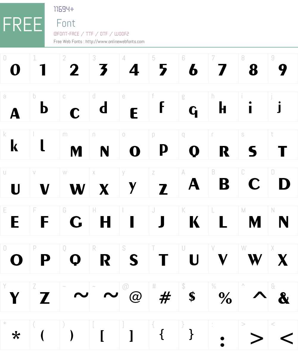 Exotica Font Screenshots