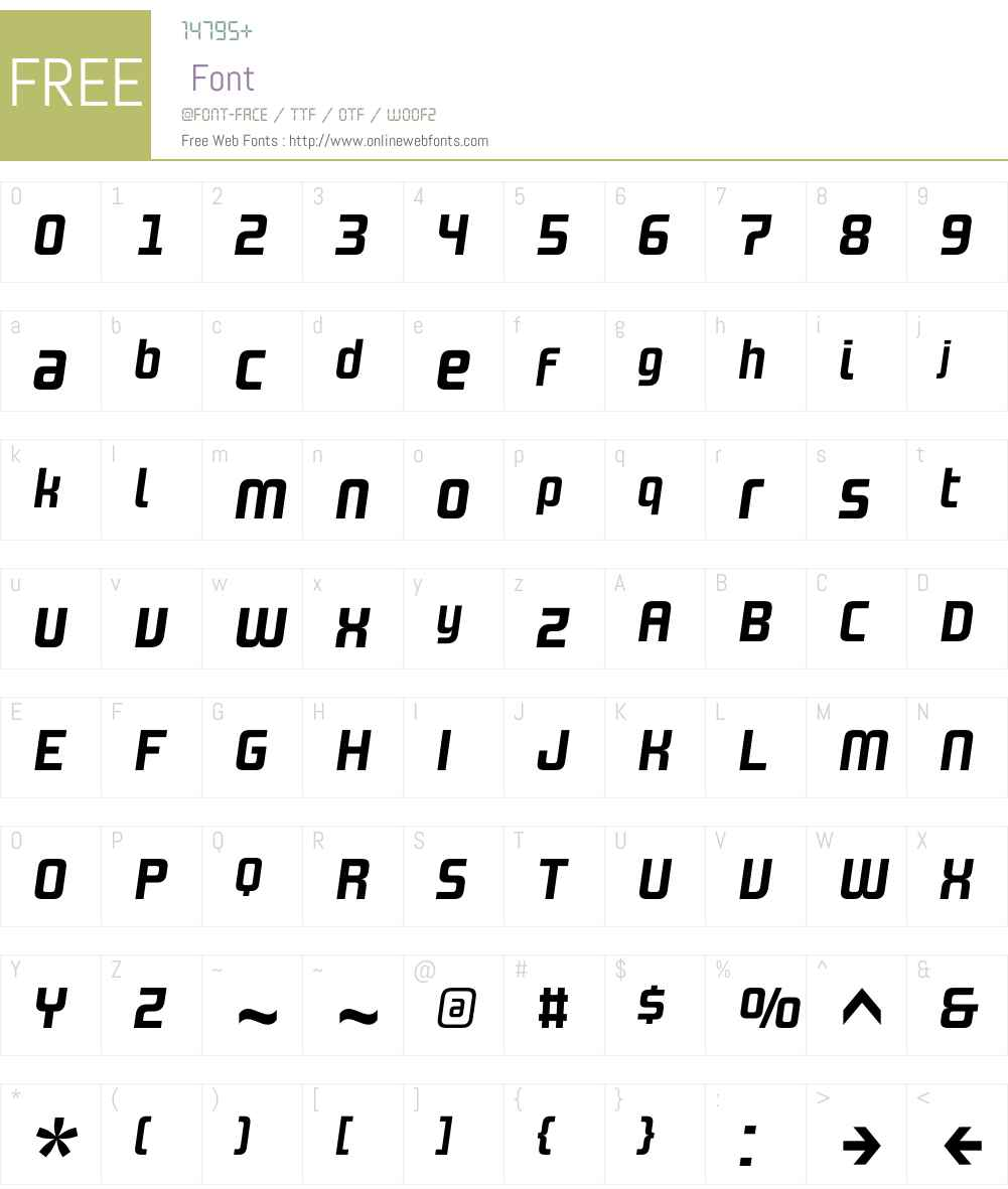 DesignSystemAW01-700I Font Screenshots