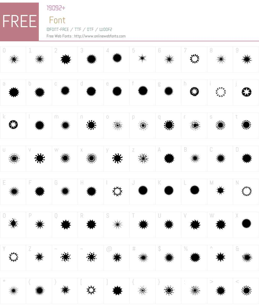 XStellaSternfIveW00-Regular Font Screenshots
