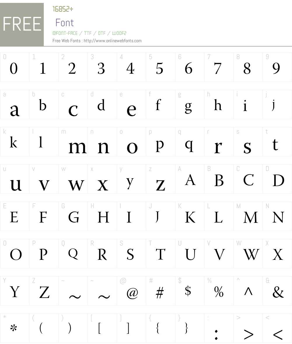 Warnock Pro Font Screenshots