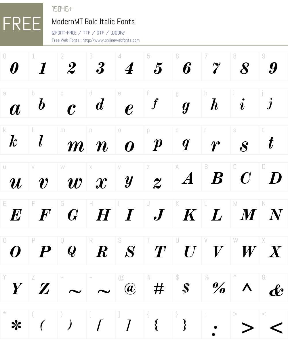ModernMT Bold Font Screenshots