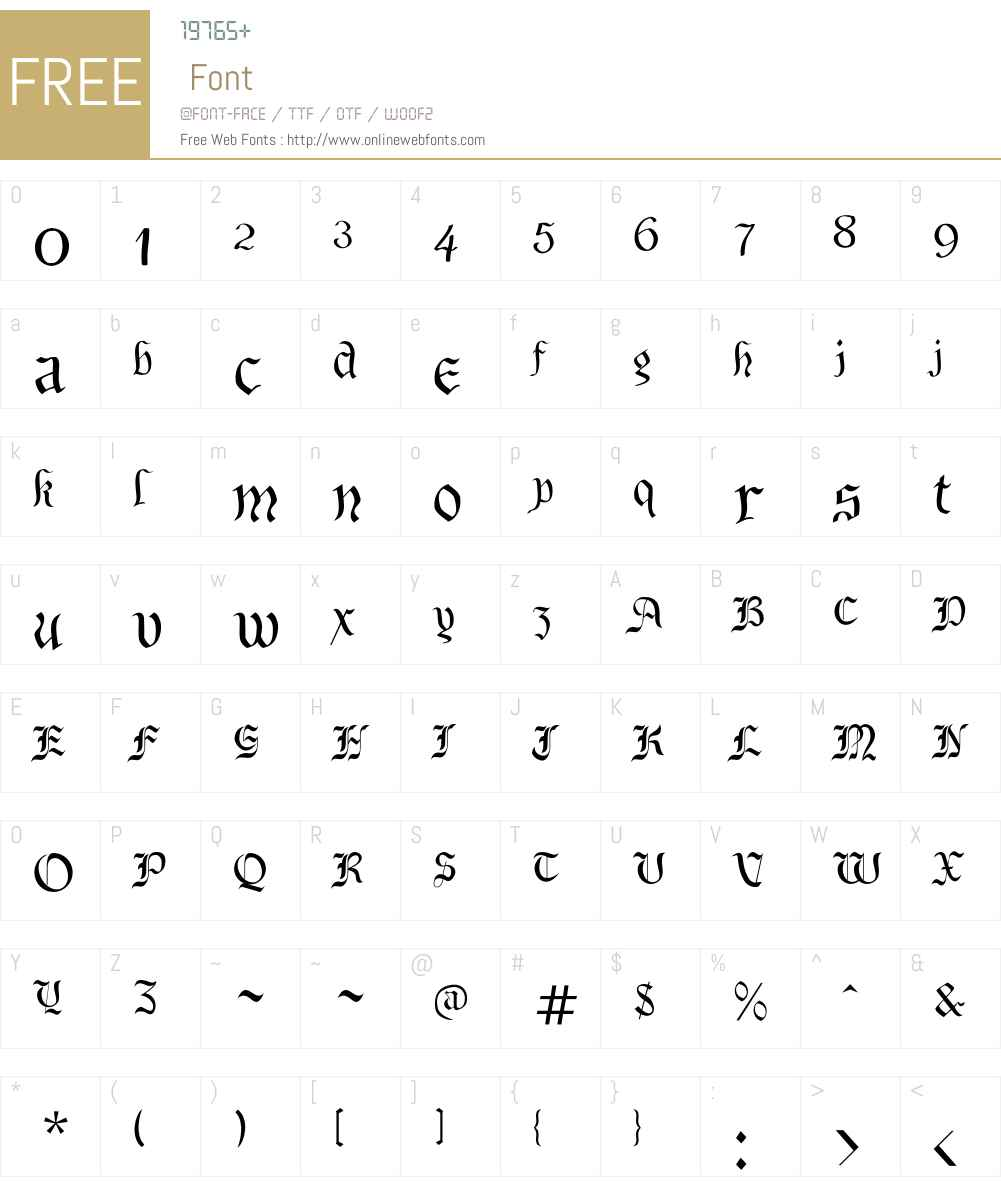 Preussen Font Screenshots