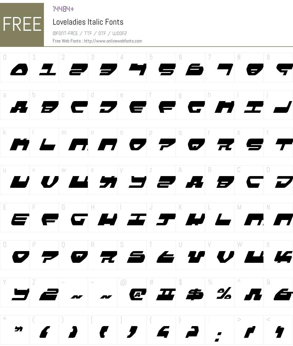 Loveladies Italic Font Screenshots
