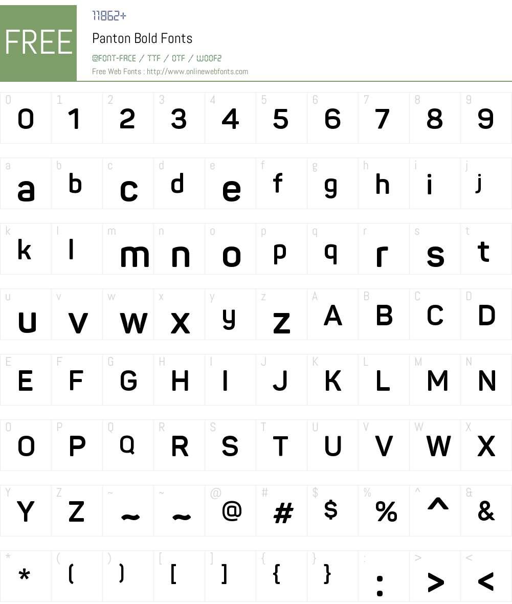 Panton Bold Font Screenshots