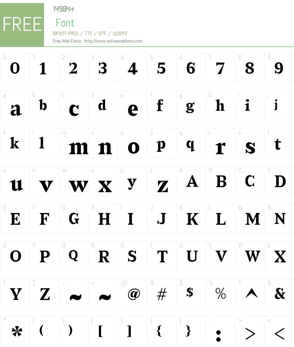 Sabre-Bold Font Screenshots