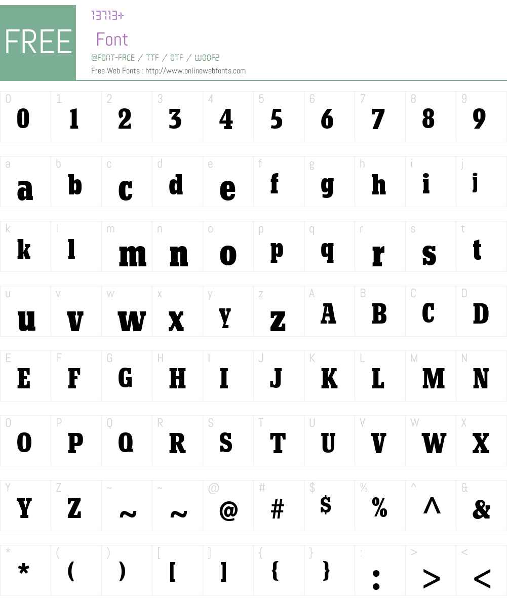 BetonW01-BoldCd Font Screenshots