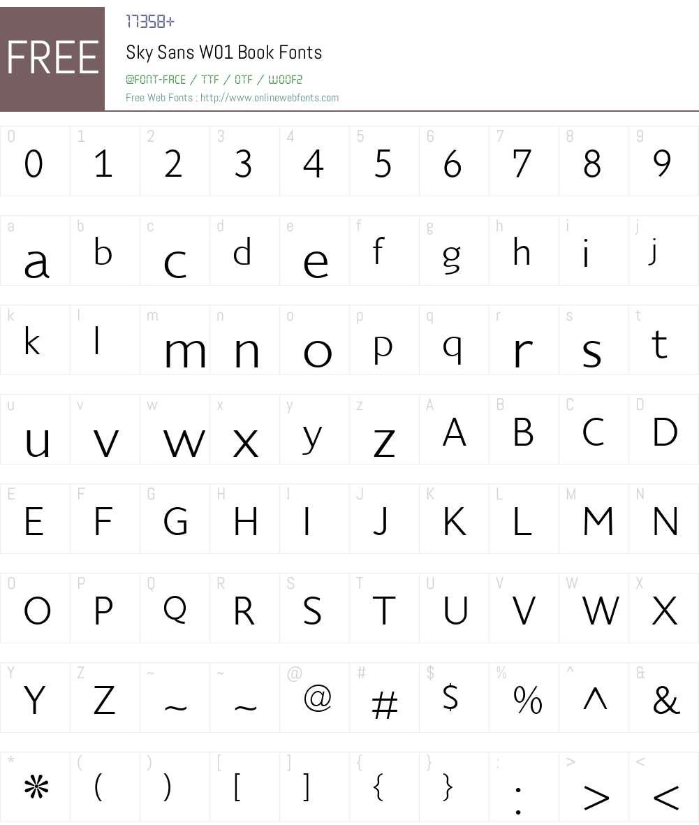 SkySansW01-Book Font Screenshots