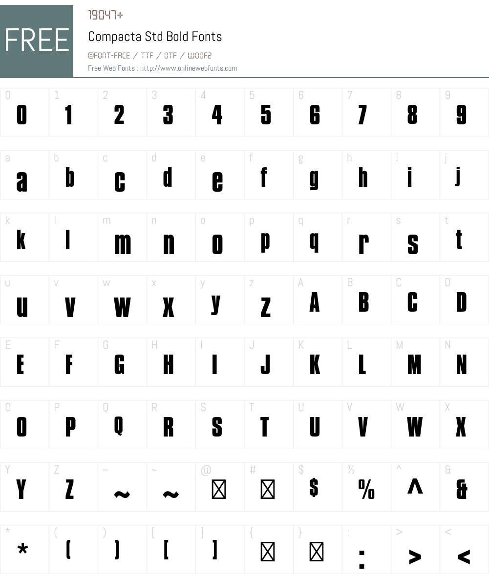Compacta Std Font Screenshots