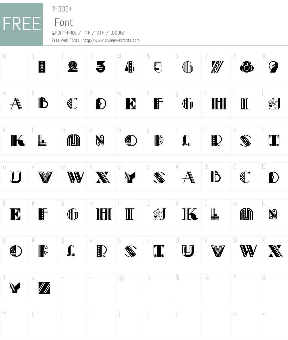 Pastiche NF Font Screenshots