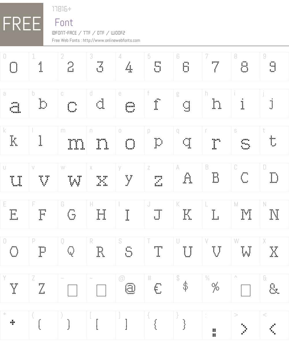 Kingthings Xstitch Font Screenshots