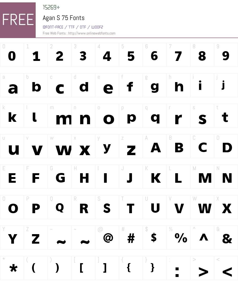Agan S Font Screenshots